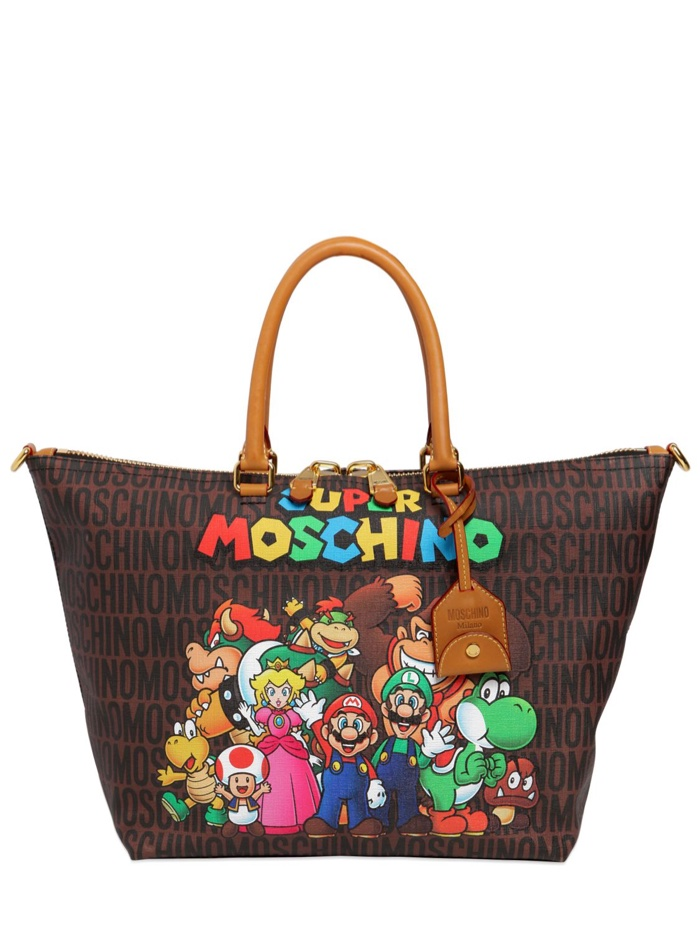 Super Moschino Faux Leather Tote Bag