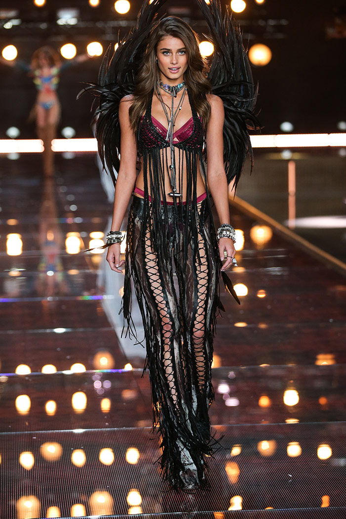 Taylor Hill at the 2015 Victoria's Secret Fashion Show. Photo: Victoria's Secret
