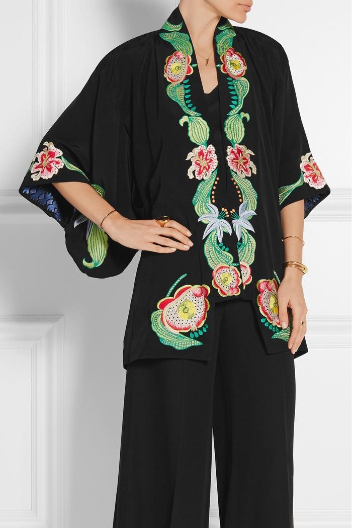 Temperley London Embroidered Kimono Jacket