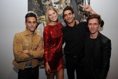 Toni Garrn Toasts Hunter & Gatti Exhibition in Miami