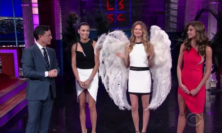 Victoria's Secret Angels Adriana Lima, Behati Prinsloo and Taylor Hill on 'The Late Show with Stephen Colbert'