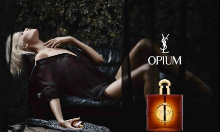YSL Opium 2016 perfume campaign starring Abbey Lee Kershaw