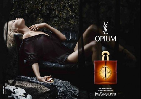 Abbey Lee Kershaw Seduces in New YSL Opium Fragrance Ad