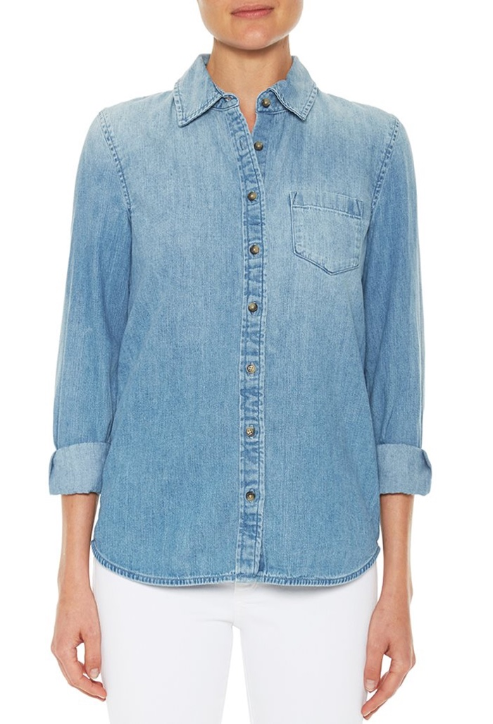 AG Jeans Easton Shirt in Light Blue