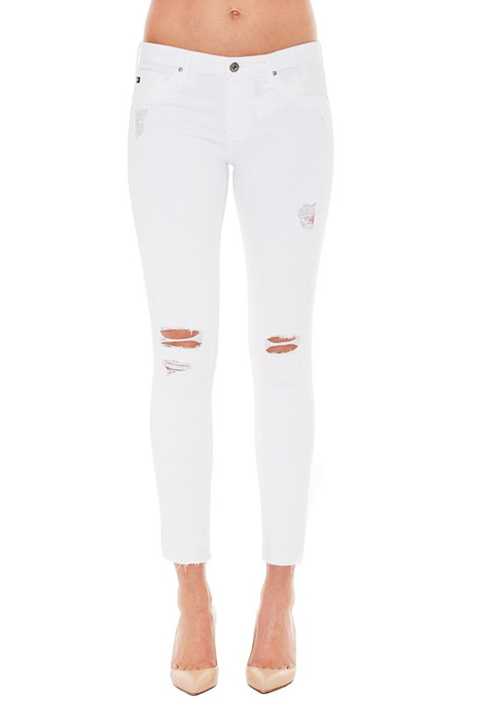 AG Jeans Legging Ankle Length Worn Jeans
