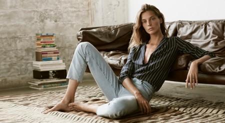 Daria Werbowy Wears Genderless Looks in AG Jeans' Spring Ads
