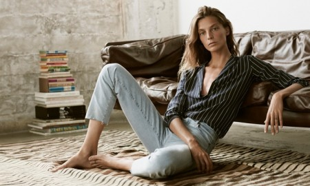 Daria Werbowy stars in Equipment's spring-summer 2016 campaign