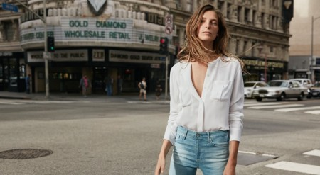 Daria Werbowy Wears Genderless Looks in AG Jeans' Spring Ads