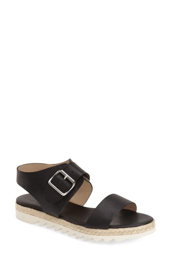 AGL Black Espadrille Sandal
