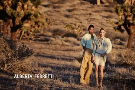 Liya Kebede, Amber Valletta Are Desert Beauties in Alberta Ferretti's Spring Ads