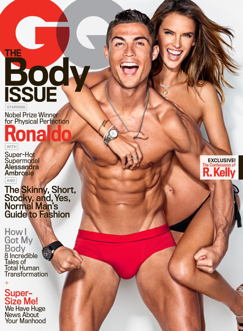 Alessandra Ambrosio Joins Cristiano Ronaldo for Sexy GQ Cover