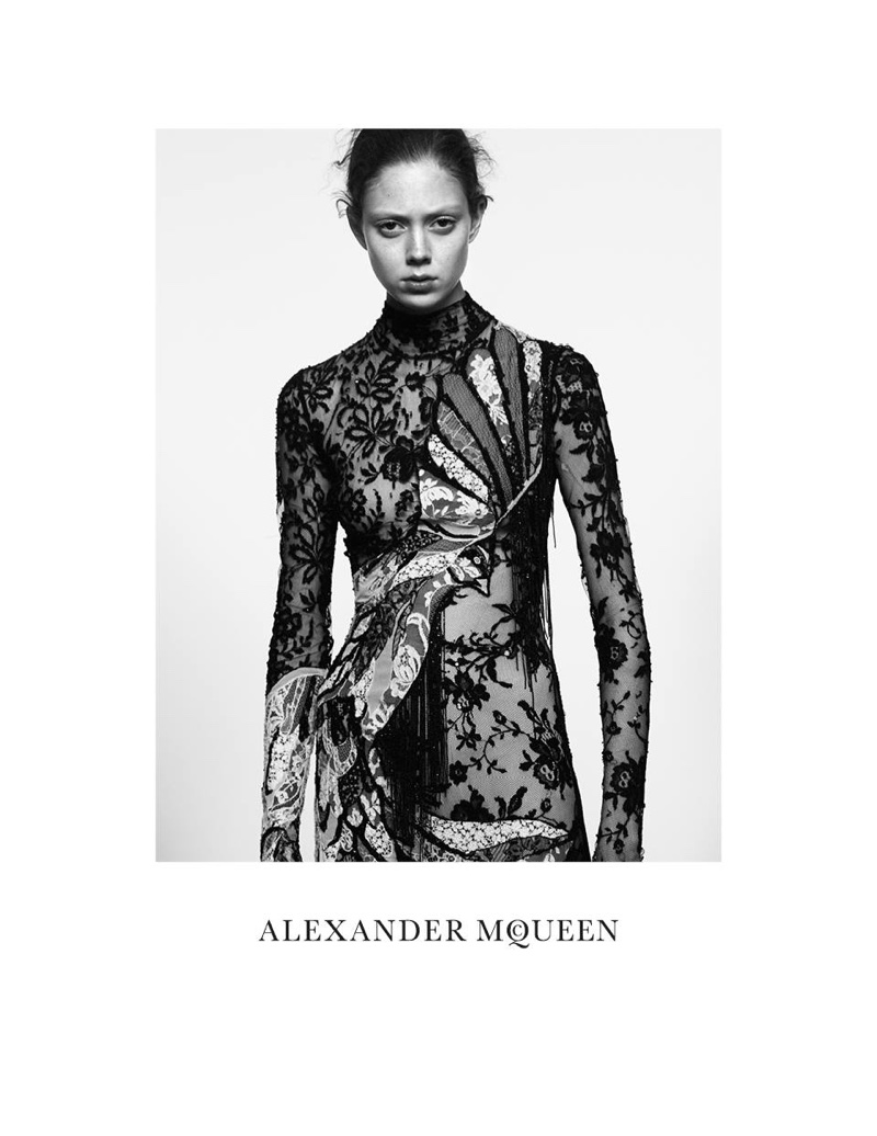 An image from Alexander McQueen's spring-summer 2016 campaign