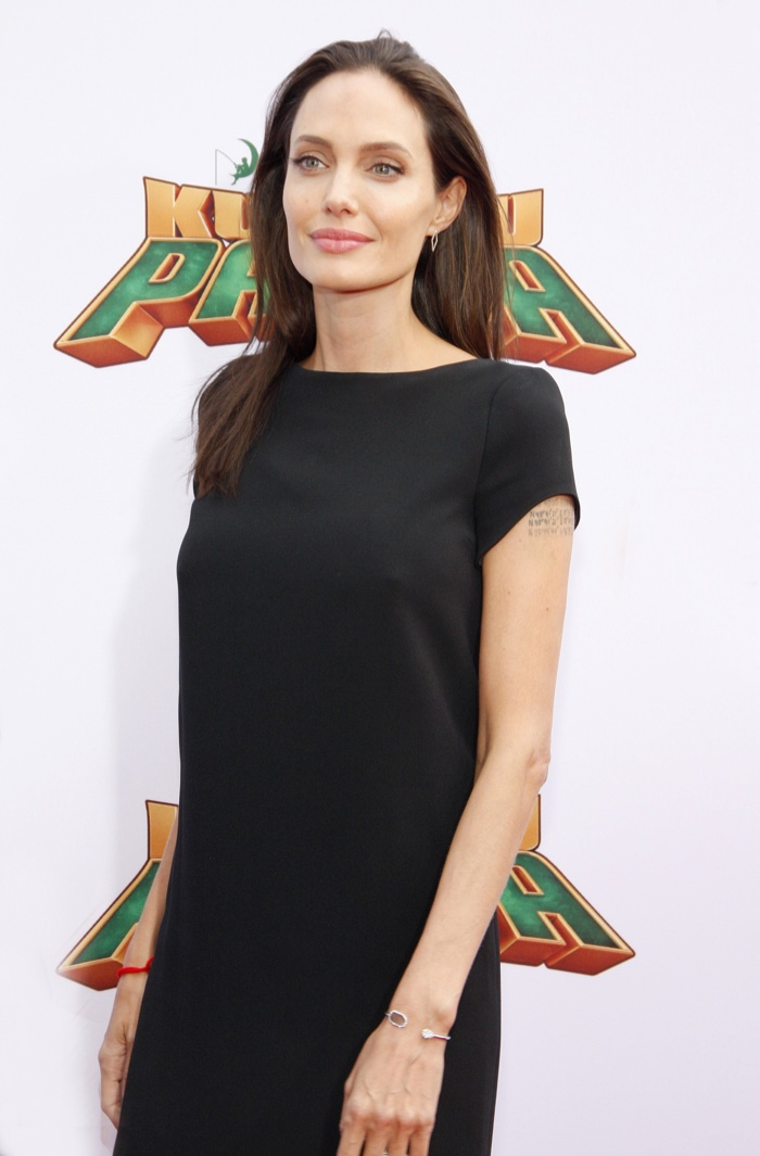 Angelina Jolie Steps Out In Saint Laurent At Kung Fu Panda 3 Premiere
