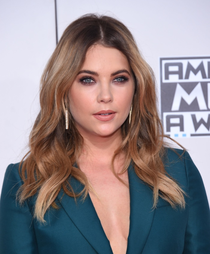 NOVEMBER 2015: Ashley Benson shows off a dark blonde, wavy hairstyle at the 2015 American Music Awards. Photo: DFree / Shutterstock.com