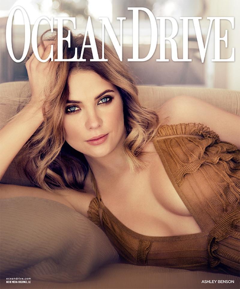 Ashley Benson on Ocean Drive January 2016 cover