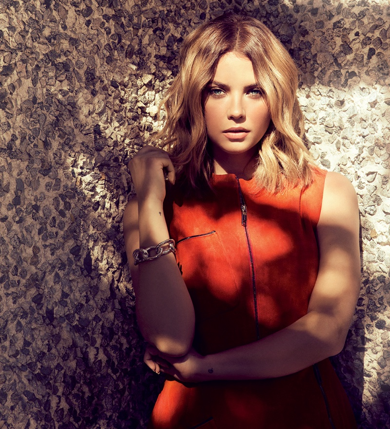 The 'Pretty Little Liars' star poses in Ocean Drive's January issue