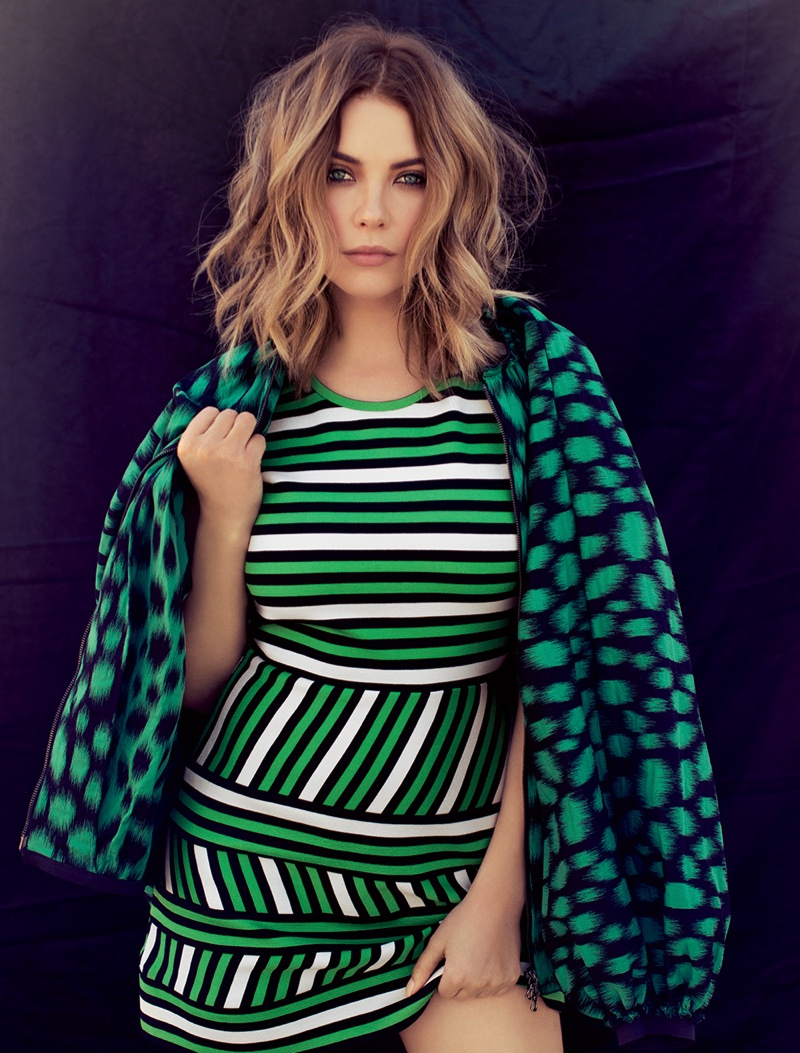 Ashley Benson Poses in Pretty Little Dresses for Ocean Drive Magazine
