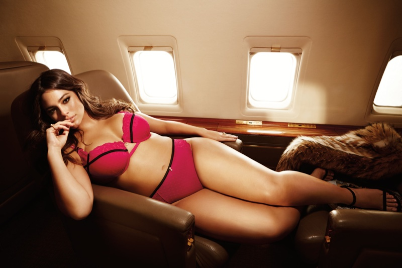 Ashley Graham Takes to the Skies for Latest Lingerie Collab
