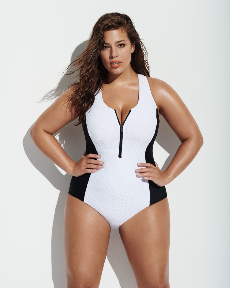 Ashley Graham stars in Forever 21's 2016 Plus Swimsuit campaign
