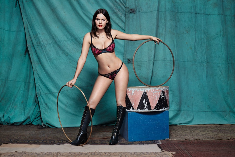 Atlanta De Cadenet Strips Down For L'Agent's Spring Collection