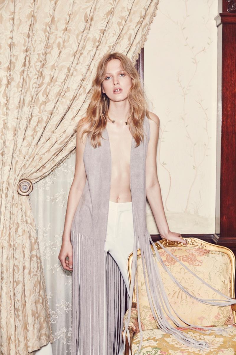 Fringe vest from BB Dakota's spring 2016 collection