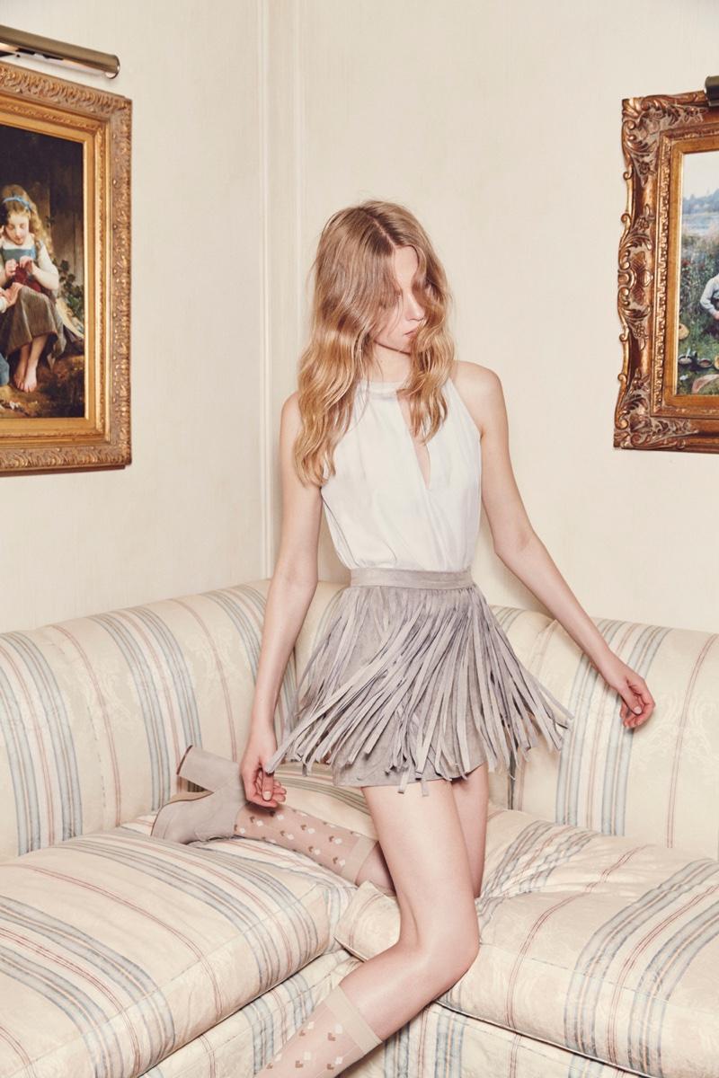 Fringe skirt  from BB Dakota's spring 2016 collection