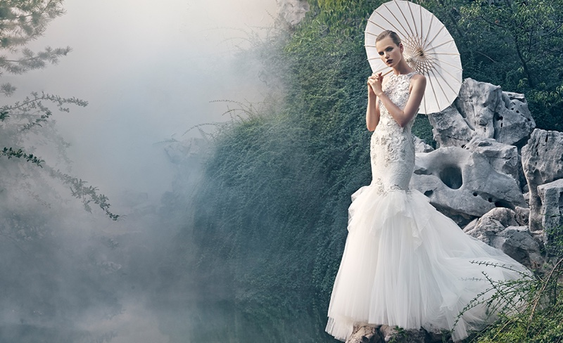 Badgley Mischka recently revealed its spring-summer 2016 Bridal campaign photographed by An Le