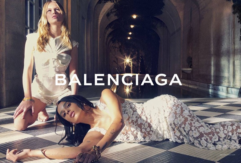 Zoe Kravitz & Anna Ewers Lounge In Balenciaga`s Spring 2016 Ads