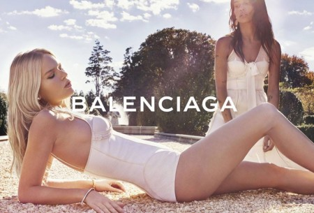 Zoe Kravitz & Anna Ewers Lounge in Balenciaga's Spring 2016 Ads