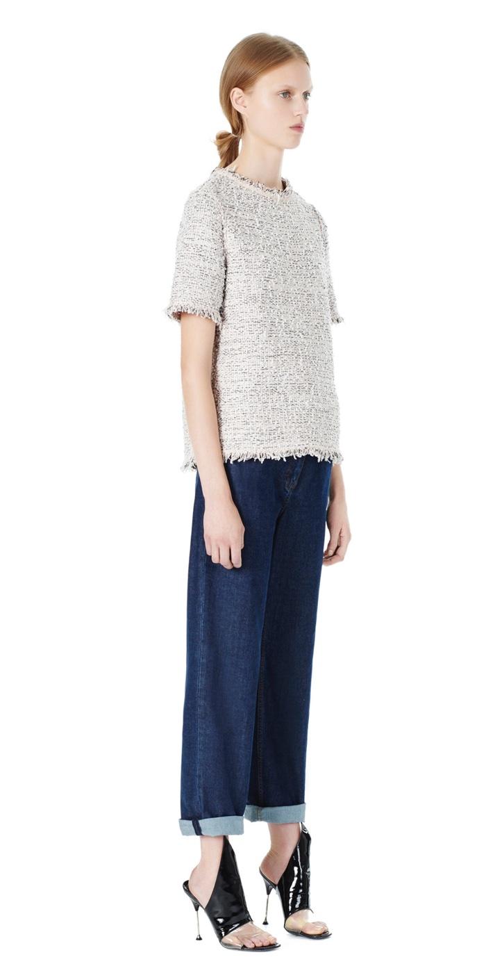 Balenciaga Tweed Short Sleeve Top