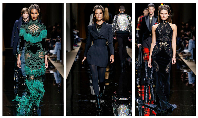 Alessandra Ambrosio, Isabeli Fontana Hit the Catwalk at Balmain's Fall Mens Show