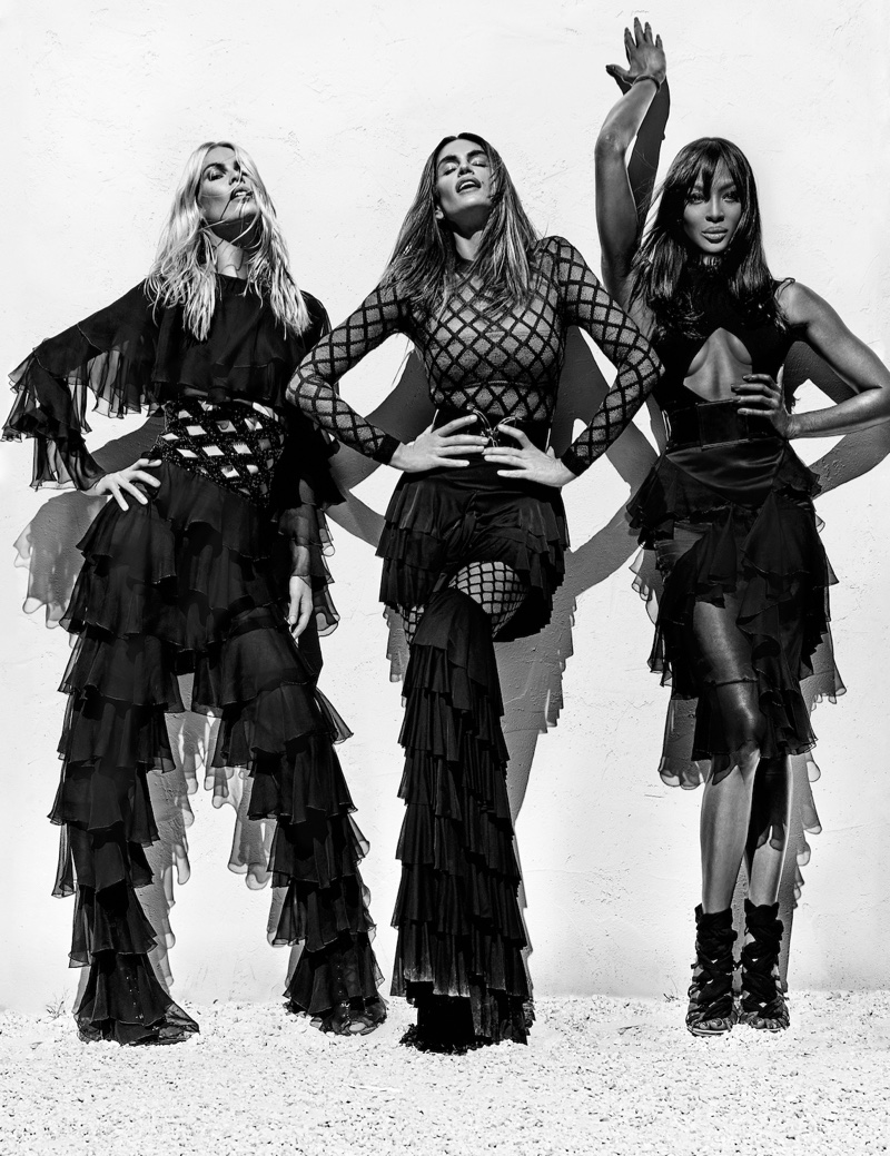 Naomi! Claudia! Cindy! 90s Supers Take Over Balmain`s Spring Campaign