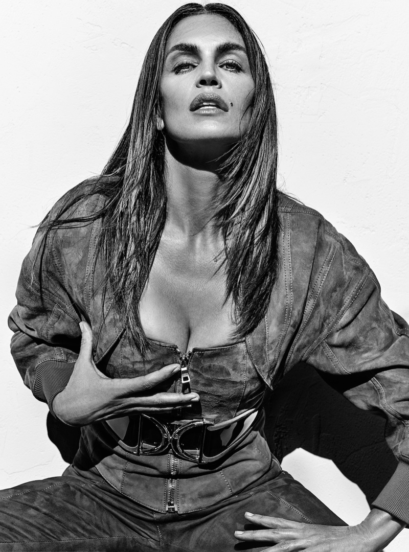 Cindy Crawford flaunts some cleavage in Balmain's spring 2016 campaign