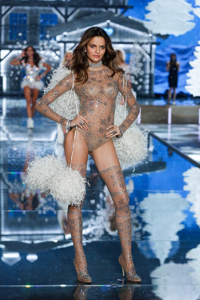 Barbara Fialho walks the runway at the 2015 Victoria's Secret Fashion Show. Photo: VS
