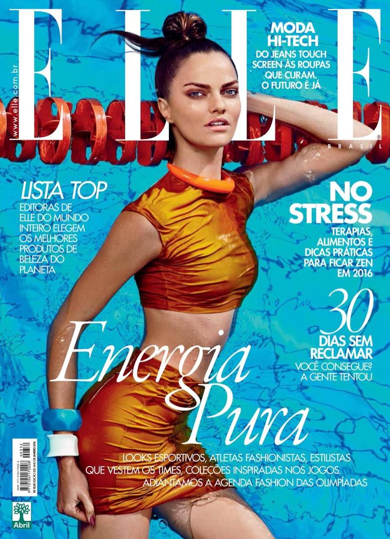 Barbara Fialho Rocks Poolside Fashions for ELLE Brazil