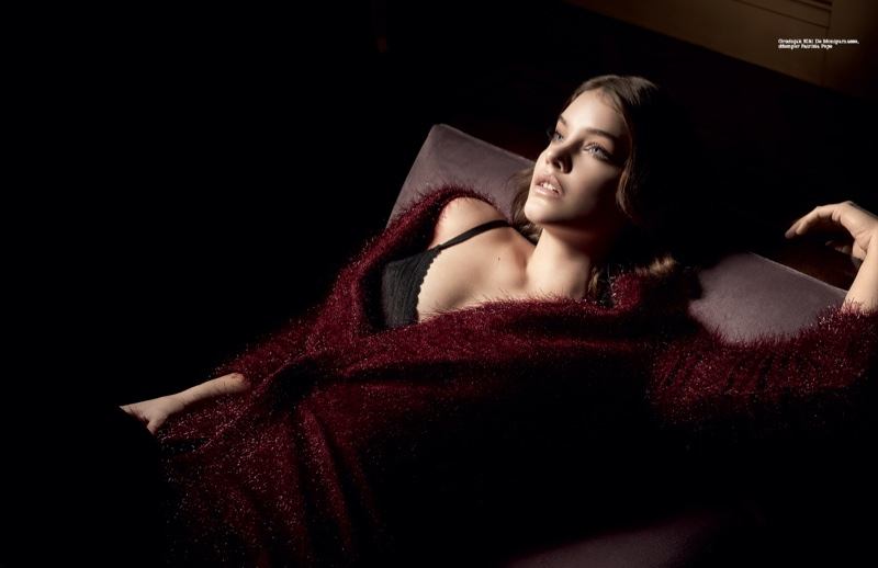 Barbara Palvin Lounges in Style for ELLE Serbia Cover Story