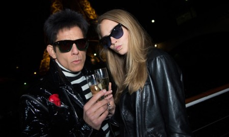 Cara Delevingne poses with Ben Stiller in Paris