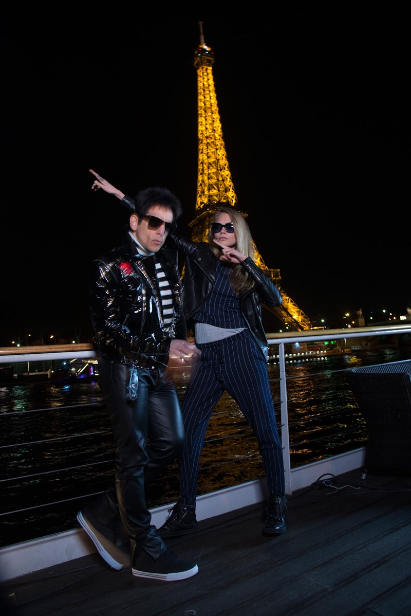 Cara Delevingne poses with Ben Stiller in Paris. Photo: Paramount