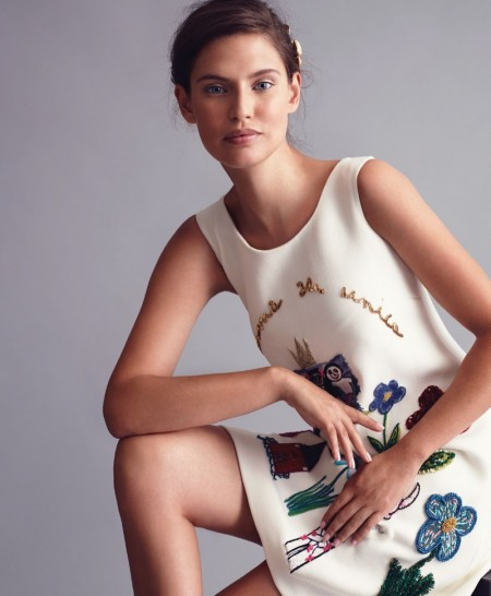Bianca Balti Models Dolce & Gabbana in BAZAAR Mexico Editorial