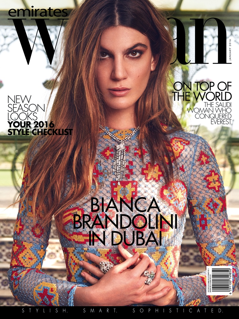 Bianca Brandolini Wears Boho Style For Emirates Woman