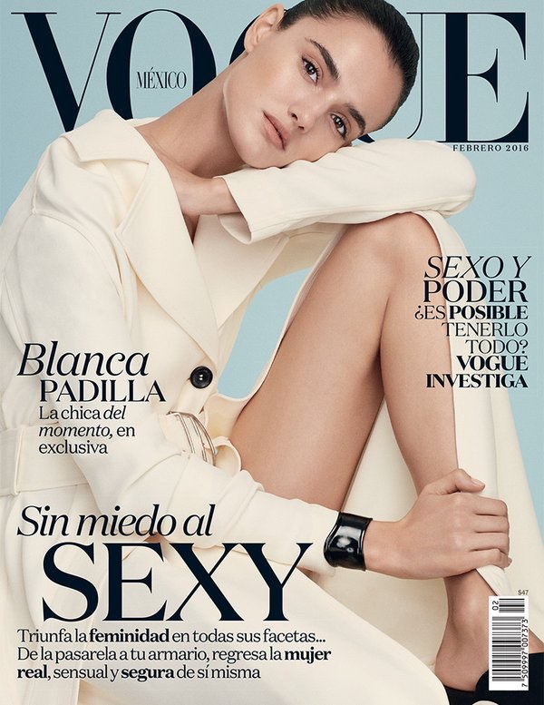 Blanca Padilla on Vogue Mexico February 2016 cover