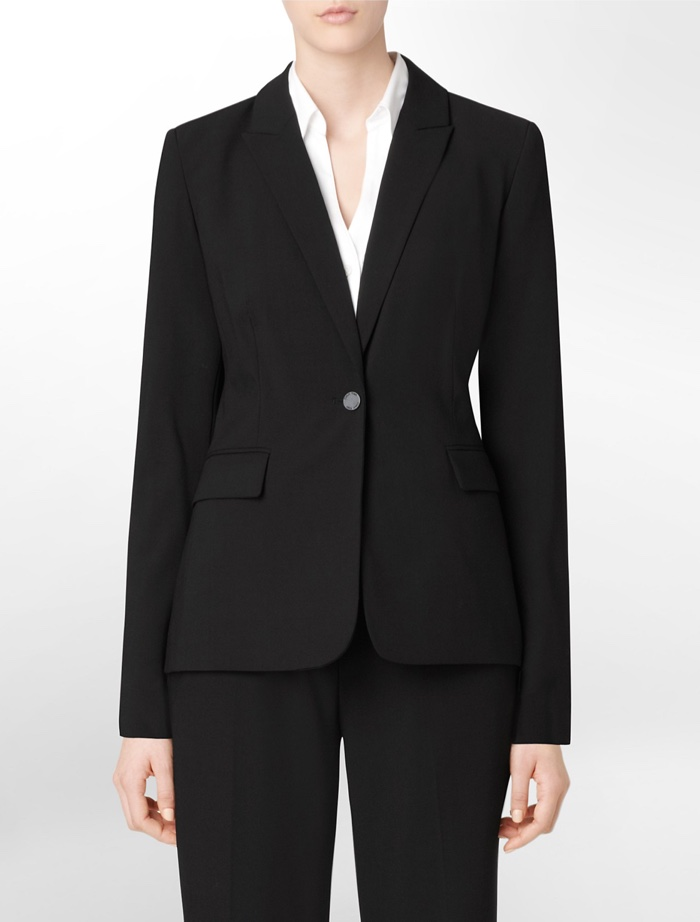 Calvin Klein One Button Black Suit Jacket