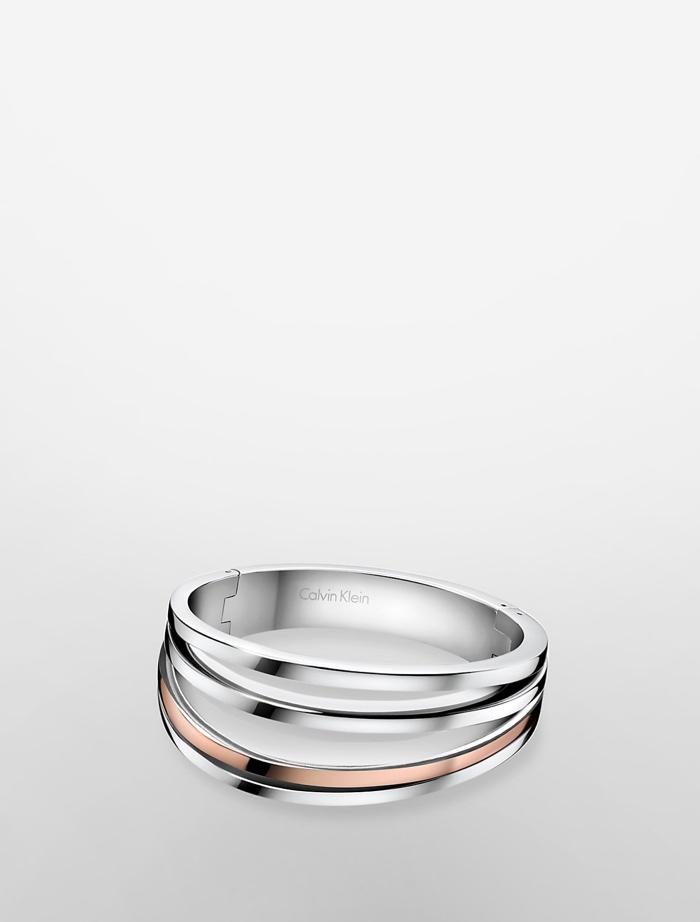 Calvin Klein Platinum Breathe Two-Tone Bracelet