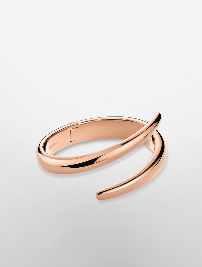 Calvin Klein Platinum Rose Gold Wrap Bracelet
