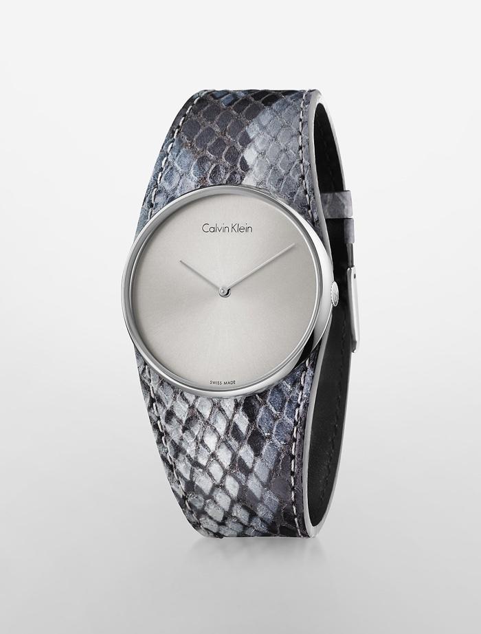 Calvin Klein Platinum Spellbound Grey Python Watch