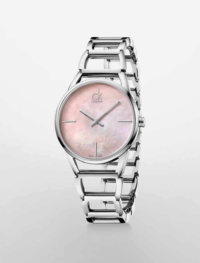 Calvin Klein White Label Stately Pink Mother of Pearl Dial Watch