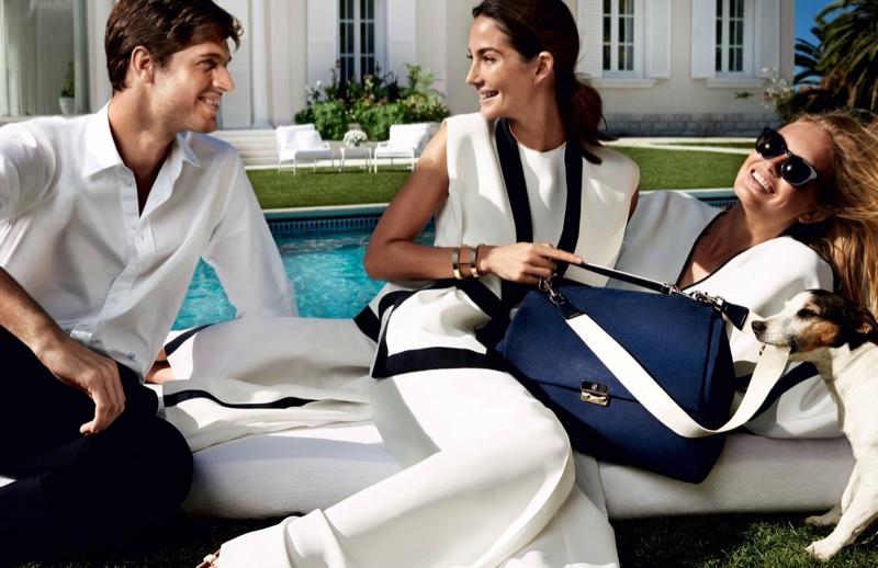 Lily Aldridge Goes Poolside For Carolina Herrera's Spring Ads