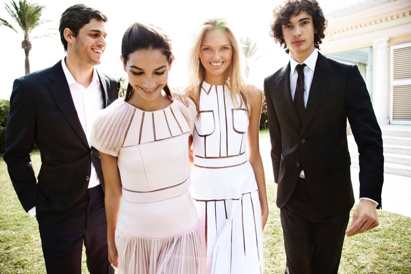 Behind the scenes image from Carolina Herrera's spring 2016 campaign