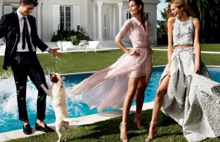Lily Aldridge Goes Poolside for Carolina Herrera's Spring Ads