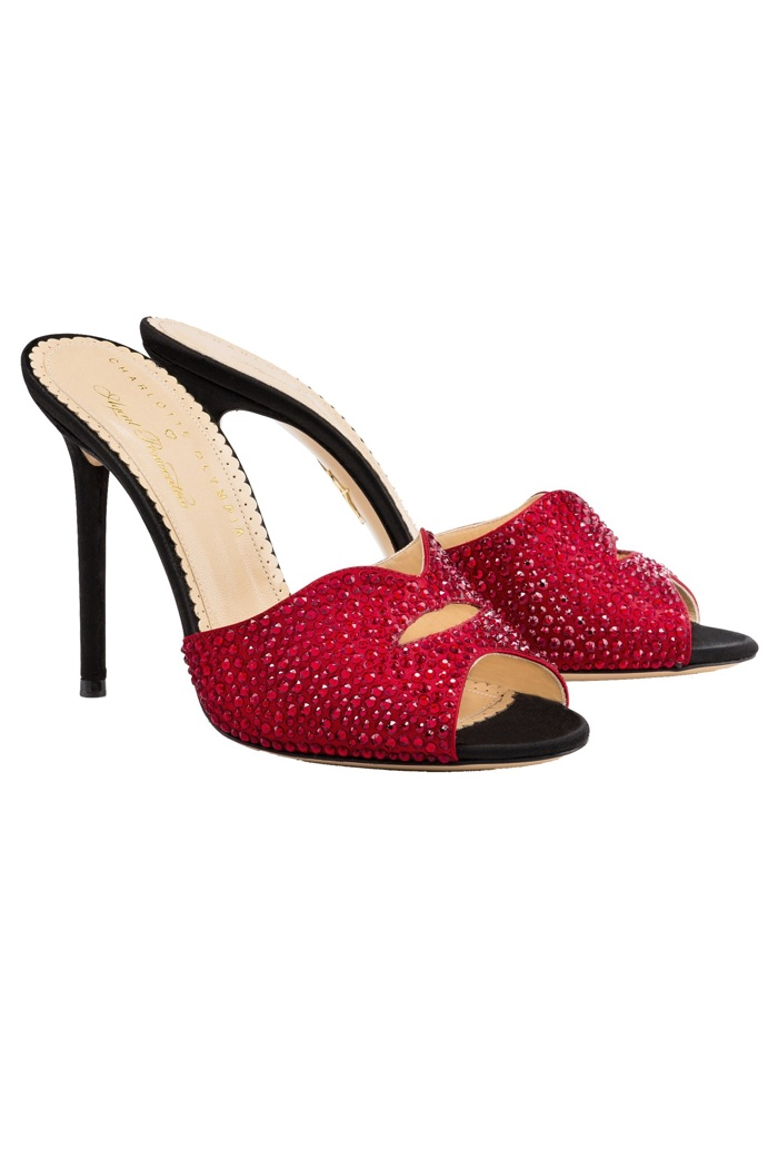 Charlotte Olympia x Agent Provocateur Red Sandals